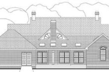 Architectural House Design - Colonial Exterior - Rear Elevation Plan #406-107