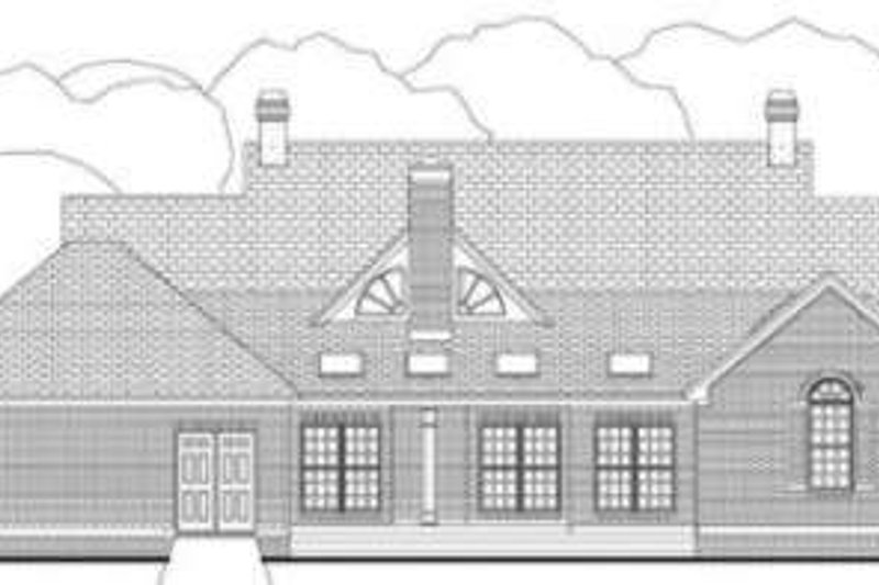 Colonial Exterior - Rear Elevation Plan #406-107 - Houseplans.com
