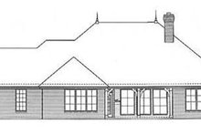 European Exterior - Rear Elevation Plan #310-246