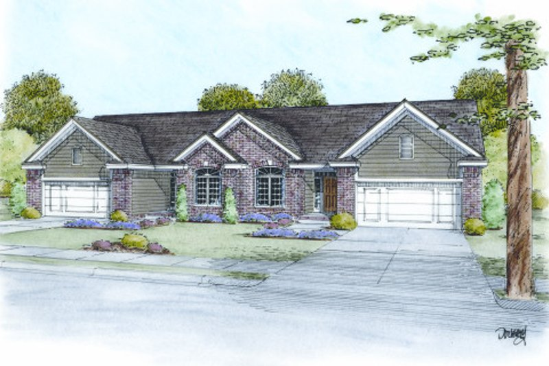 Dream House Plan - Traditional Exterior - Front Elevation Plan #20-2063