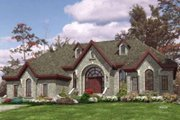 European Style House Plan - 3 Beds 2 Baths 2765 Sq/Ft Plan #138-144 Exterior - Front Elevation