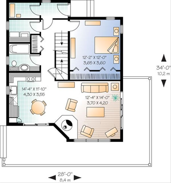 Contemporary Floor Plan - Main Floor Plan Plan #23-2175