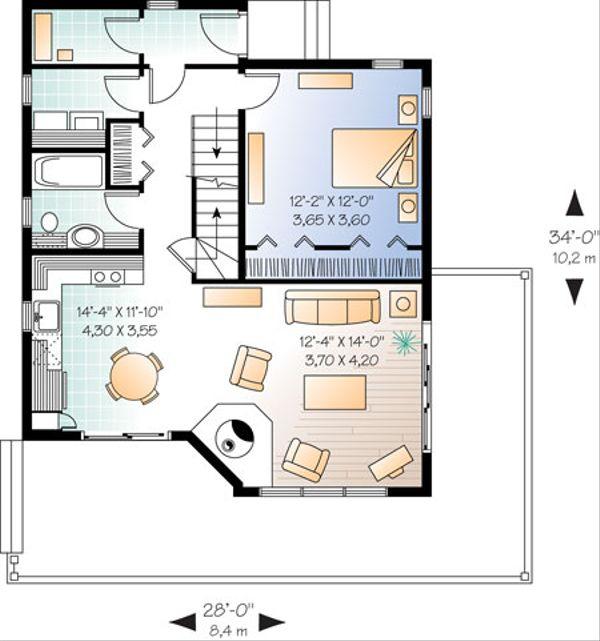 Dream House Plan - Contemporary Floor Plan - Main Floor Plan #23-2175