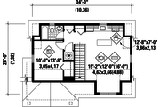 Traditional Style House Plan - 1 Beds 1 Baths 683 Sq/Ft Plan #25-4622