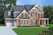 Farmhouse Style House Plan - 5 Beds 5 Baths 3207 Sq/Ft Plan #419-192 Exterior - Front Elevation