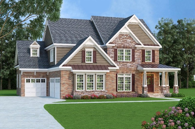 Farmhouse Exterior - Front Elevation Plan #419-192 - Houseplans.com
