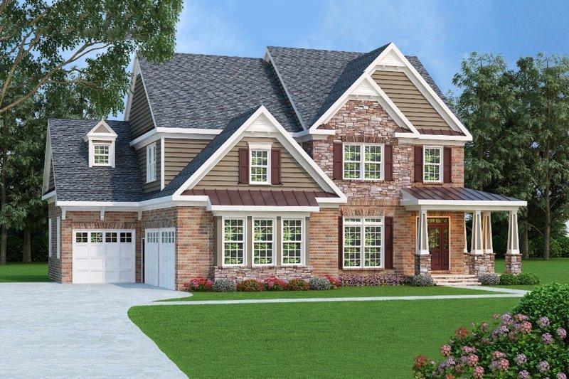 Farmhouse Exterior - Front Elevation Plan #419-192