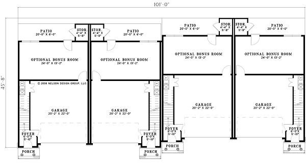 Traditional Floor Plan - Lower Floor Plan Plan #17-1174