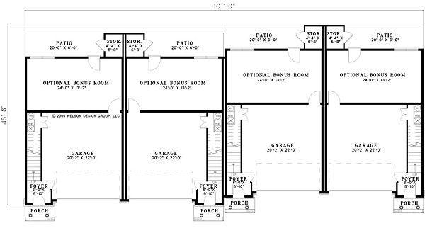 Traditional Floor Plan - Lower Floor Plan #17-1174