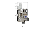 Contemporary Style House Plan - 6 Beds 3 Baths 3555 Sq/Ft Plan #25-4555