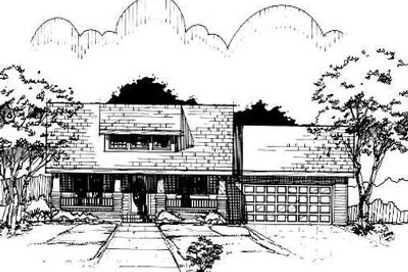 Bungalow Style House Plan - 2 Beds 1 Baths 1256 Sq/Ft Plan #50-223 Exterior - Front Elevation