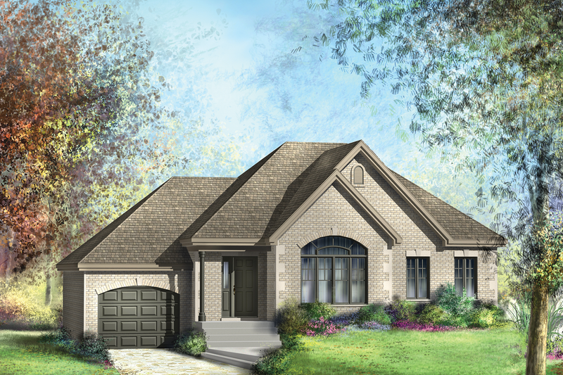 European Exterior - Front Elevation Plan #25-4267