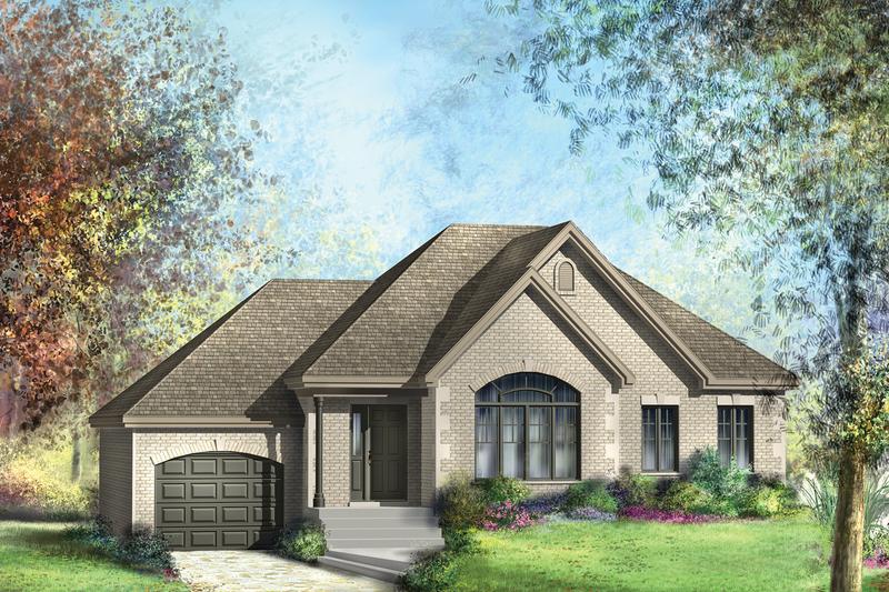 House Plan Design - European Exterior - Front Elevation Plan #25-4267