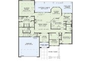 Traditional Style House Plan - 3 Beds 2 Baths 2095 Sq/Ft Plan #17-226 Floor Plan - Main Floor Plan