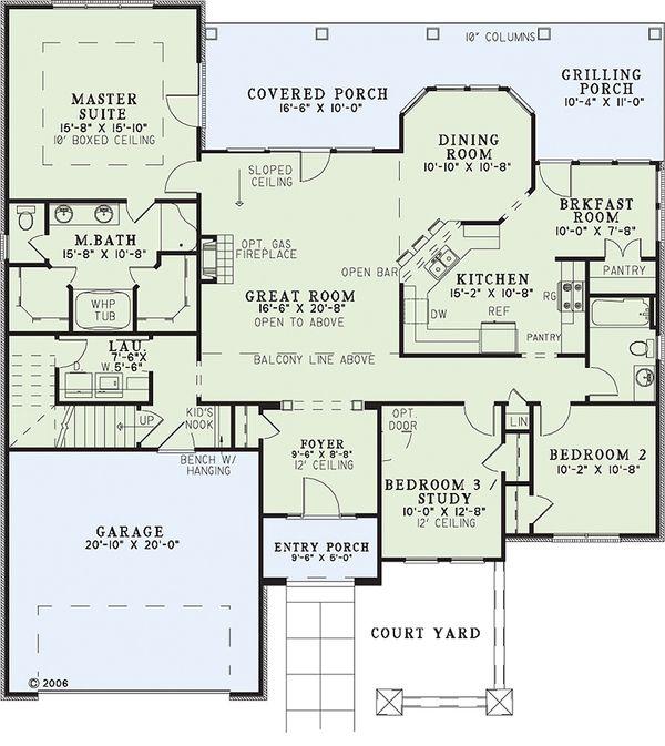 Traditional Floor Plan - Main Floor Plan Plan #17-226