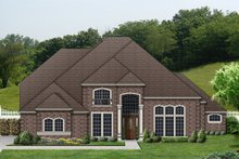 Home Plan - European Exterior - Front Elevation Plan #84-428