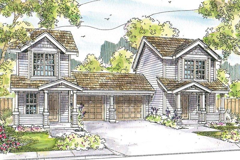 Dream House Plan - Cottage Exterior - Front Elevation Plan #124-1075