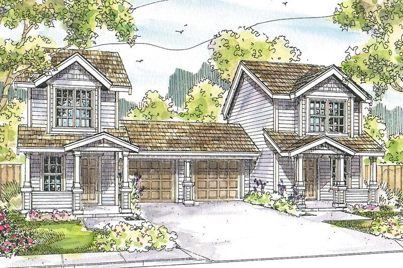 Dream House Plan - Cottage Exterior - Front Elevation Plan #124-1075