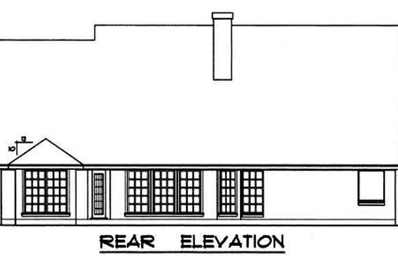 Traditional Exterior - Rear Elevation Plan #40-236 - Houseplans.com