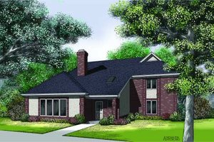 Traditional Exterior - Front Elevation Plan #45-314