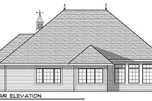 European Exterior - Rear Elevation Plan #70-866