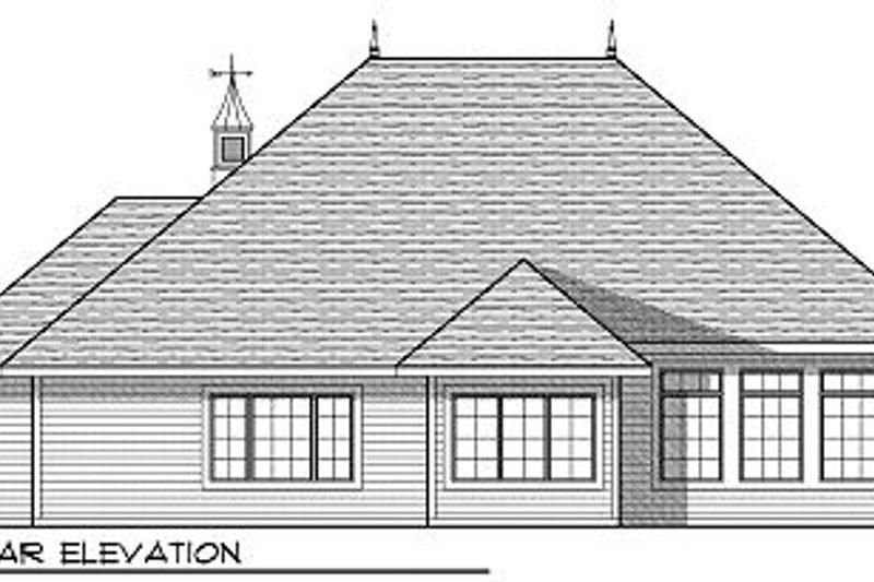 European Exterior - Rear Elevation Plan #70-866 - Houseplans.com