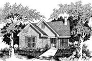 Traditional Style House Plan - 2 Beds 2 Baths 1249 Sq/Ft Plan #329-108 Exterior - Front Elevation