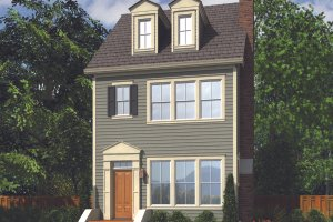 Colonial Exterior - Front Elevation Plan #48-1011