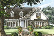 European Style House Plan - 4 Beds 2 Baths 2410 Sq/Ft Plan #137-153 Exterior - Front Elevation