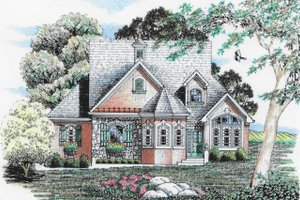 Dream House Plan - Traditional Exterior - Front Elevation Plan #405-335