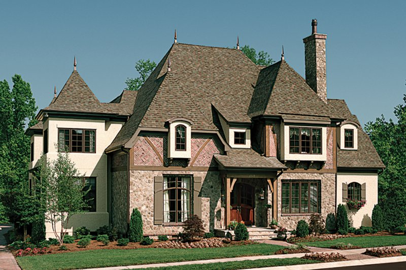 Dream House Plan - European Exterior - Front Elevation Plan #453-25
