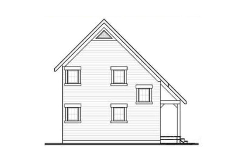 Cabin Exterior - Rear Elevation Plan #23-2267 - Houseplans.com