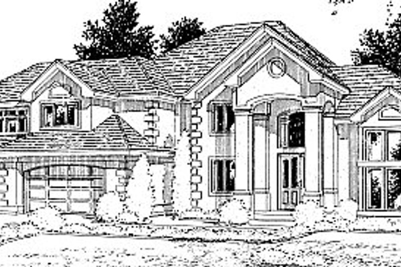 Home Plan Design - European Exterior - Front Elevation Plan #94-209