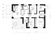 Bungalow Style House Plan - 3 Beds 1 Baths 853 Sq/Ft Plan #906-17 Floor Plan - Main Floor Plan