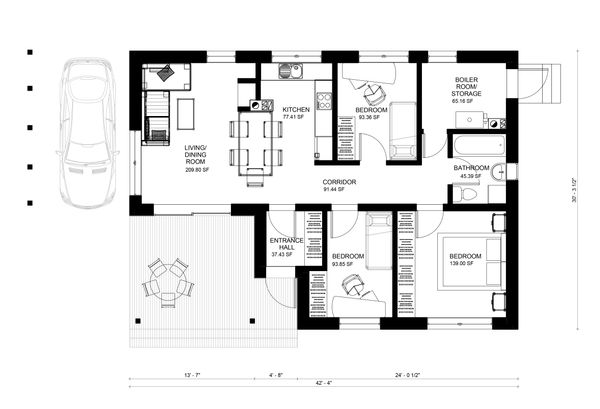 Bungalow Floor Plan - Main Floor Plan Plan #906-17