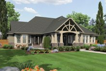 Home Plan Design - Craftsman Exterior - Rear Elevation Plan #132-208