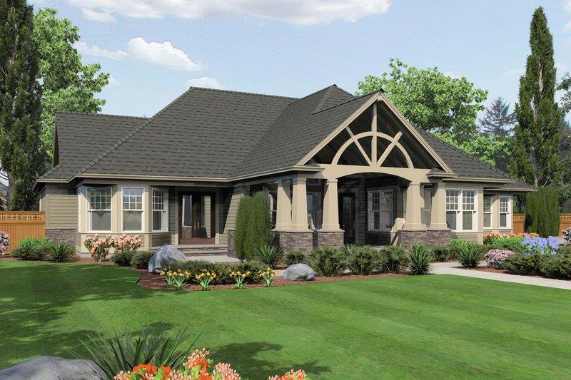 Craftsman Exterior - Rear Elevation Plan #132-208 - Houseplans.com