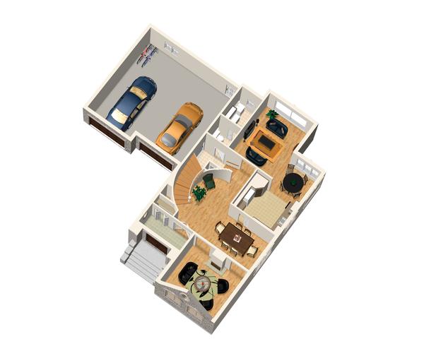European Floor Plan - Main Floor Plan Plan #25-4713