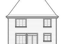 House Plan Design - European Exterior - Rear Elevation Plan #23-731