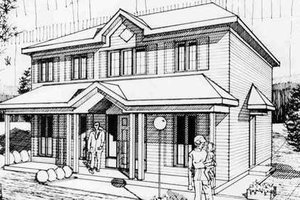 Colonial Exterior - Front Elevation Plan #25-4237