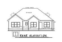 Ranch Exterior - Rear Elevation Plan #20-2292