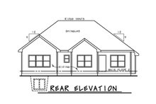 Architectural House Design - Ranch Exterior - Rear Elevation Plan #20-2292