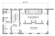 Contemporary Style House Plan - 2 Beds 3 Baths 3441 Sq/Ft Plan #451-24