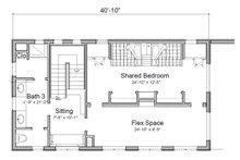 Contemporary Floor Plan - Upper Floor Plan Plan #451-24