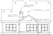Bungalow Style House Plan - 3 Beds 2.5 Baths 2024 Sq/Ft Plan #20-1230 Exterior - Rear Elevation
