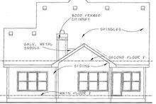 Home Plan - Bungalow Exterior - Rear Elevation Plan #20-1230