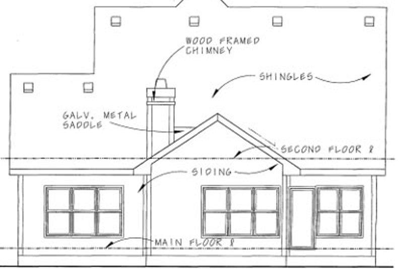 Bungalow Exterior - Rear Elevation Plan #20-1230 - Houseplans.com