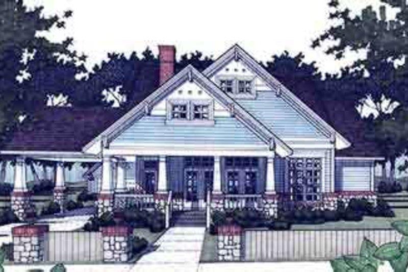Craftsman Exterior - Other Elevation Plan #120-160 - Houseplans.com