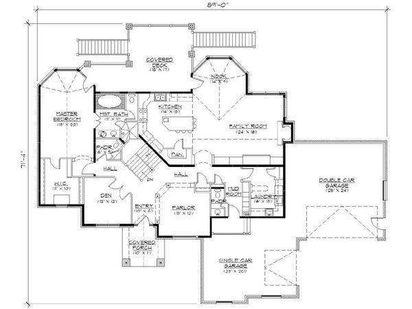 Home Plan - European Floor Plan - Main Floor Plan #5-399