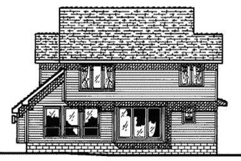 Traditional Exterior - Rear Elevation Plan #20-474 - Houseplans.com
